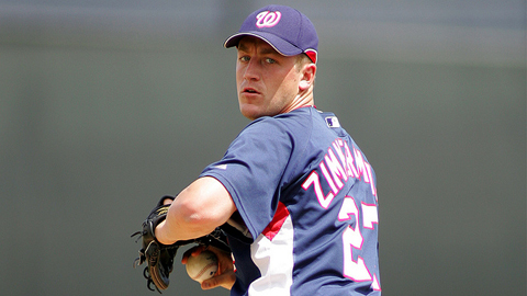 Jordan Zimmermann has allowed one hit over seven Triple-A innings.