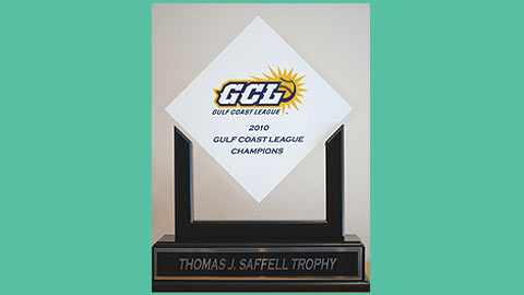 Beginning in 2010, the GCL champion will be presented with the Thomas J. Saffell Trophy.