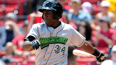 Marlins prospect Marcell Ozuna leads the league with 15 home runs.