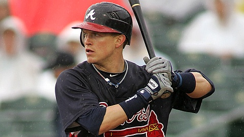 Nate McLouth is batting .234 with five homers in 25 games with the G-Braves.