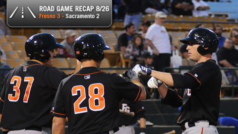 Joe Borchard homered and drove in a pair in Fresno's one-run victory.