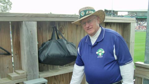 Kane County usher Jack Phelan is also known as Mr. Kaboom.