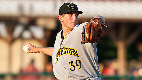 Aaron Pribanic battled Matt Moore in the Marauders' first postseason game.