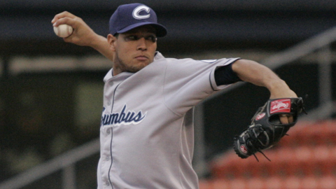 Yohan Pino allowed only two baserunners over seven innings.