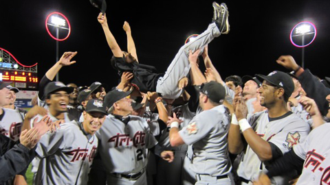 The Tri-City ValleyCats won four of five playoff games en route to the crown.