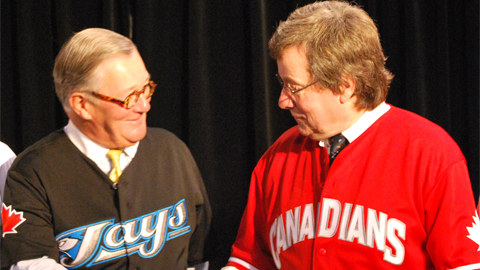 Canadians owner Jake Kerr and Jays president Paul Beeston agree.
