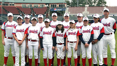 Baseball For All 12u Girls team recently played at Hudson Valley's Dutchess Stadium.
