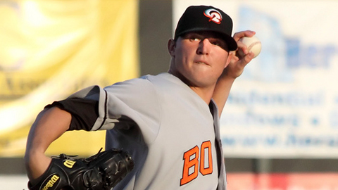 Zach Britton was 10-7 with a 2.70 ERA across two Minor League levels.