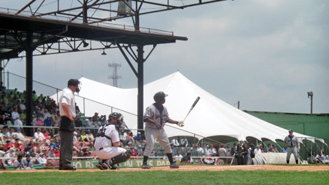 Marquez Smith homered in the 100th anniversary Rickwood Classic.