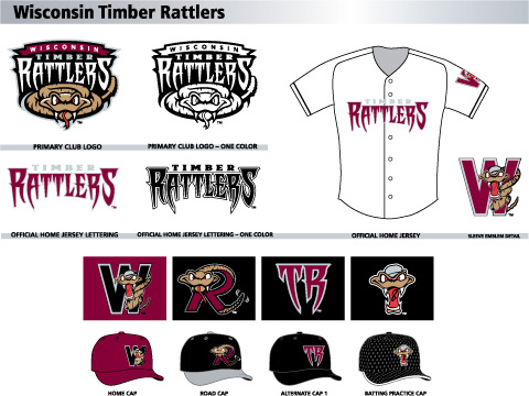 The new logos for the Wisconsin Timber Rattlers