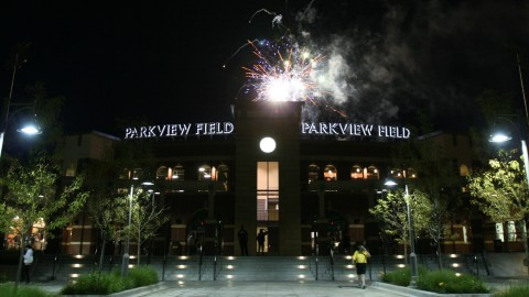 The fireworks display at Parkview Field is part of the downtown Night of Lights.