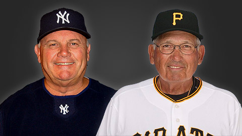 Mark Newman (l) and Woody Huyke were given two of Minor League Baseball's top honors.