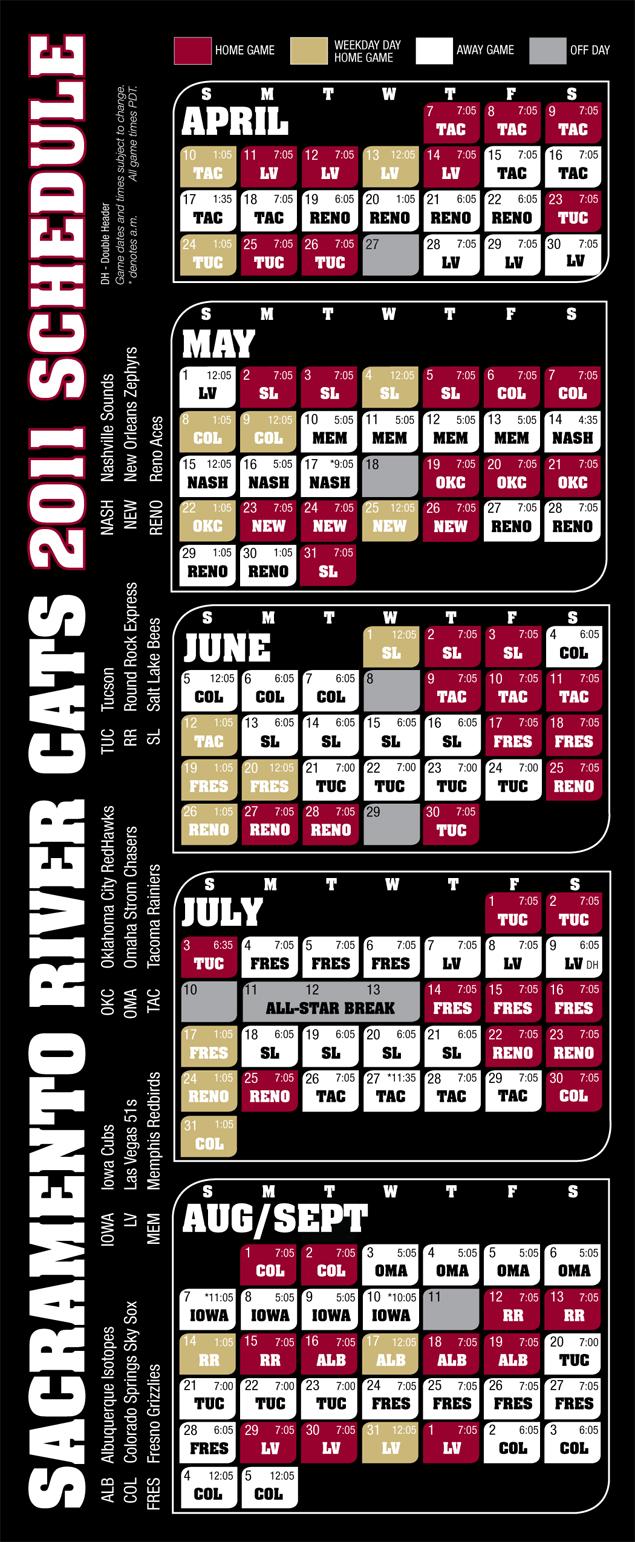 Sacramento River Cats Game Schedule