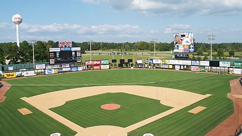Five County Stadium will play host to Carolina League action in 2012.