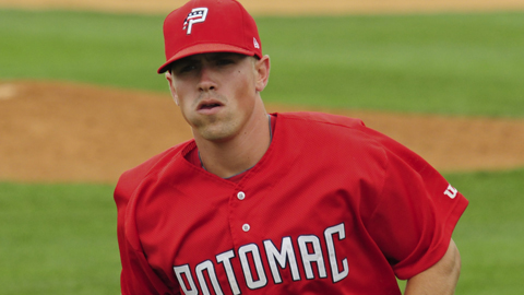 Tyler Moore was named MVP of the Carolina League in 2010.