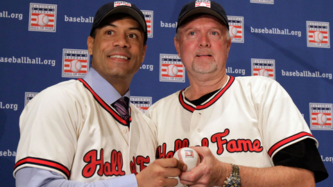 Roberto Alomar (l) and Bert Blyleven worked hard in their Minor League days.