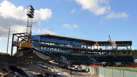 Tacoma's Cheney Stadium is in the midst of a $30 million overhaul.