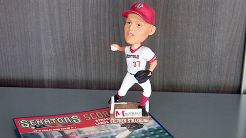 Harrisburg fans had a chance to get a Stephen Strasburg bobblehead in 2010.