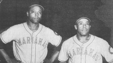 Quincy Trouppe (l) made the bigs in '52.