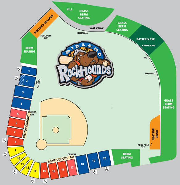 Seating Chart | Midland RockHounds Tickets