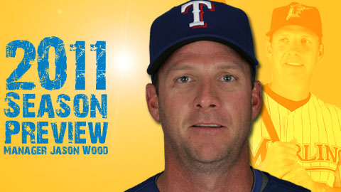 New Pelicans manager Jason Wood spent parts of five seasons with the A's, Tigers, and Marlins.
