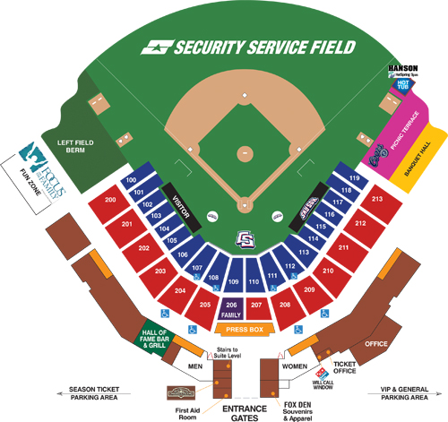 Seating Chart And Box Office Info Colorado Springs Sky