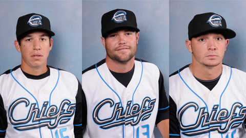 Tom Milone, Josh Wilkie, and Cole Kimball (l-r) shut out the IronPigs on Sunday.
