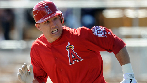Mike Trout stole 56 bases and scored 106 runs in 131 games last season.
