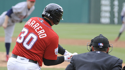 Chris Marrero hit the first two home runs of his triple-A career on Sunday.