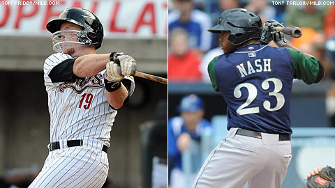 Chris Wallace and Telvin Nash combined for 10 hits -- six of them homers -- and 13 RBIs on Sunday.