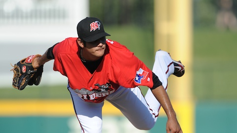 Martin Perez threw the second perfect game in RoughRiders history Tuesday night.