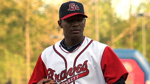 Julio Teheran has allowed 10 hits over 15 2/3 innings in three starts.