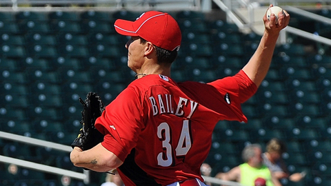 Homer Bailey has made 56 starts in the Major Leagues with the Reds.