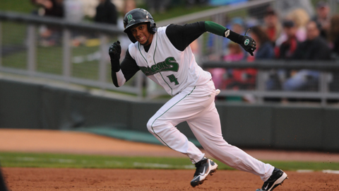 Billy Hamilton has 16 stolen bases, one off the Minor League lead.
