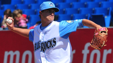 Jake Odorizzi leads the Carolina League with 30 strikeouts over 20 innings.