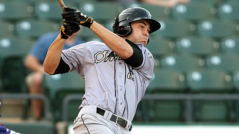 Eric Hosmer was hitting .439 (43-for-98) for Triple-A Omaha.