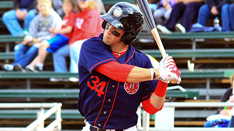 Bryce Harper ranks second in the Sally League with seven homers.