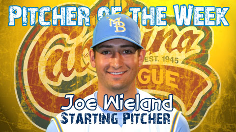 Joe Wieland whiffed 13 Potomac Nationals May 4 to take league Pitcher of the Week honors.