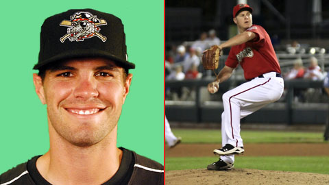 Erie's Justin Henry and Harrisburg's Brad Peacock (Will Bentzel, MiLB)