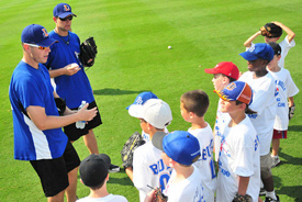 Photo from Durham Bulls Summer Baseball Camp of Group