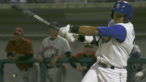 Angelo Songco leads the Quakes with 34 RBIs and 40 runs scored.