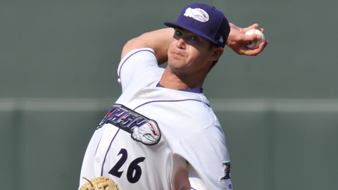 Ryan Buch went 4-3 with a 3.65 ERA across eight outings at Kannapolis.