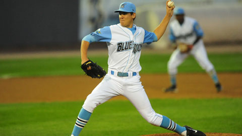 Justin Marks is 2-3 with a 4.80 ERA in 10 outings for Wilmington.