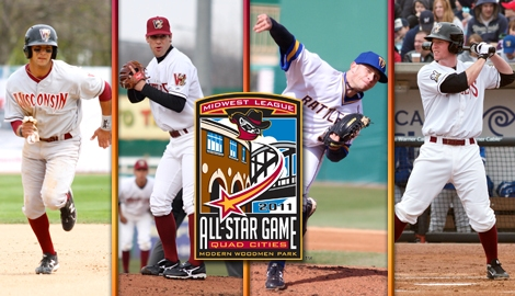 Chris Dennis, Austin Ross, Tyler Thornburg, & Mike Walker will represent the Timber Rattlers at the 2011 Midwest League All-Star Game on June 21 at Modern Woodmen Park.