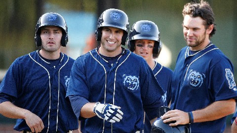 Paul Goldschmidt (center) leads the Southern League with 57 RBIs.