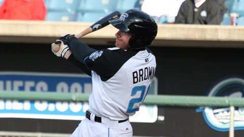 Corey Brown homered and drove in two runs on Wednesday in Gwinnett.