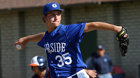 Right-hander Matt Andriese was a third-round pick out of UC-Riverside this month.