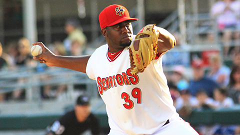 Shairon Martis is 5-3 with a 2.95 ERA in 11 starts for Harrisburg.