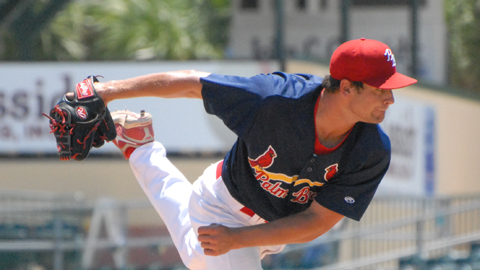 Tyler Lyons struck out five through four innings in his first professional start