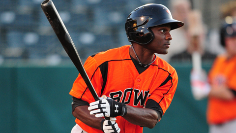 Xavier Avery is hitting .267 with 21 stolen bases for Bowie.